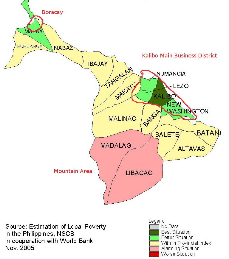 Aklan map in Concept | Kalibo.org